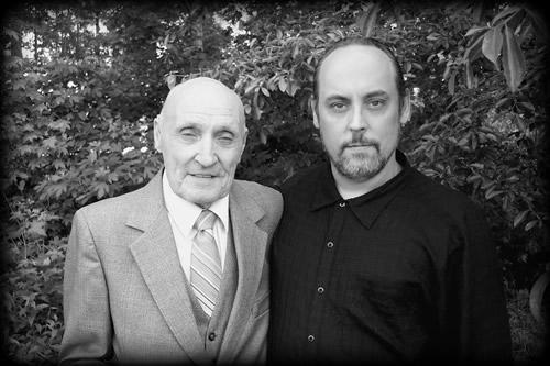 photo of author with his grandfather